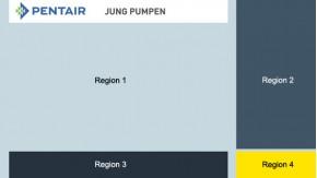 Aufteilung der Regionen PENTAIR Jung Pumpen