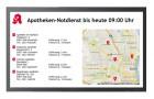 Xibo Apotheken-Notdienst als Vollbild-Layout im Landscape Modus