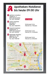 Xibo Apotheken-Notdienst Portait Modus