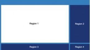 Xibo Layout 16:9 mit 4 Regionen