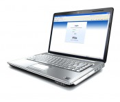 Notebook mit Xibo gestartetem Web-Interface